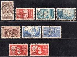Petit Lot De Timbres De 1936/37 Avec Belle Oblitération Cachet à Date D'Epoque  TTB - France