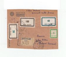 Sur Devant D'env. PTT En Recommandé De Stasbourg Vers Clermont Ferrand 4 Timbres Fictifs CAD Stasbourg 1957. (1077x) - Marcophilie (Lettres)