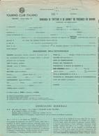 Carta Intestata DOMANDA TRITTICO CARNET PASSAGGIO IN DOGANA Auto TOURING CLUB - Automobili