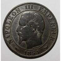 GADOURY 152 - 5 CENTIMES 1854 W Lille TYPE NAPOLEON III - KM 777 - TB - France