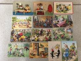 13 Oude Postkaarten  Katten  .Chats Humaniser - Chats