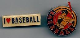 LOT DE 2 PIN'S BASEBALL. - Baseball