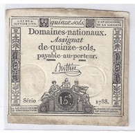 ASSIGNAT DE 15 SOLS - SERIE 1788 - 04/01/1792 - TB/TTB - Assegnati