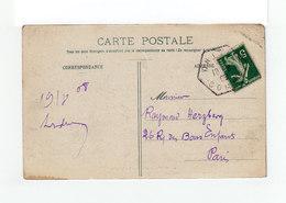 Sur Carte Postale D'Onival Sur Mer Type Marianne CAD Hexagonal Onival 1908. (1078x) - Marcophilie (Lettres)