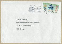 ESPAGNE LETTRE AVEC OBLITERATION CONSEIL INTERNATIONAL DE LITTÉRATURE ASTURIANE - Cultures