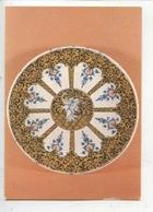 Assiette Décor Ocre Niellé Et Camaieu Bleu - Faience De Rouen Vers 1725-1730 (cp Vierge) - Arts