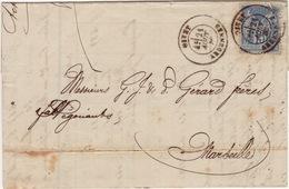 ARDENNES- Givet- Lettre Facture à Marseille - CAD Type18 - 1880 - Marcophilie (Lettres)
