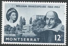 Montserrat. 1964 400th Birth Anniv Of William Shakespeare. 12c MH. SG 156 - Montserrat