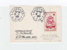 . (1079Sur Enveloppe Timbre Au Profif De La Croix Rouge. CAD Lauzes Lot. C.P. N°7 1961 (1079x) - Marcophilie (Lettres)