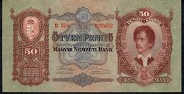 HUNGARY  P99  50  PENGO   1932  #D.084 UNC. - Hungary