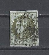 FRANCE  YT   N° 39C  Obl  (signé)  1870 - 1870 Bordeaux Printing