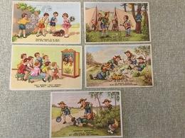 5 Oude Postkaarten  1962 - Scoutisme