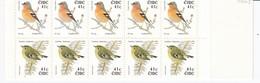 BIRDS Ireland 2002 Chaffinch And Goldcrest Booklet MNH(**) #B80 - Oiseaux