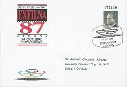 ESPAGNE EP EXFILNA'87 GIRONA BANYOLES 92 OLYMPIQUES BARCELONE 92 - Exposiciones Filatélicas