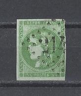 FRANCE  YT   N° 42B  Obl  (signé)  1870 - 1870 Bordeaux Printing