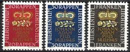 LIECHTENSTEIN 1945: Geburt Erbprinz Naissance Prince Héritier Zu 207-209 Mi 240-242 Yv 215-217 ** MNH  (Zu CHF 6.00) - Liechtenstein