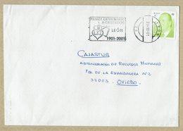 ESPAGNE 2001 LETTRE AVEC OBLITERATION PREMIER CENTENAIRE AGUSTINOS LEÓN - Christianisme