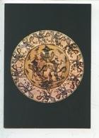 Toulouse Giroussens (tarn) Plat à Décor Cavaliers Volatiles XVIIè S. Terre Engobée Vernissée - Paul Dupuy Musée - Arts