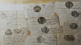 Cachets De Généralités  SAVOIE  ETATS SARDES - 10 Feuilles Timbrées De  1720  à 1760 Environ - Cachets Généralité