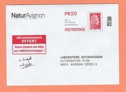 ENVELOPPE NATURAVIGNON PRIO POSTREPONSE 20g N° 199732 - Entiers Postaux