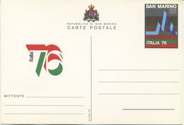 SAN MARINO - CARTOLINA POSTALE  1976 - ESPOSIZIONE FILATELICA ITALIA 76 - Interi Postali