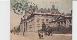PARIS - Ecole Militaire (animation - Timbre à Date 1907 -  Carte Colorisée Et Gaufrée ) - Enseignement, Ecoles Et Universités