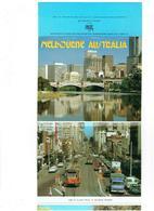 Cpm Dépliant Vues AUSTRALIE - Melbourne - Bateau Camion Tramway Taxi Voiture Travaux Grue échafaudage - Melbourne