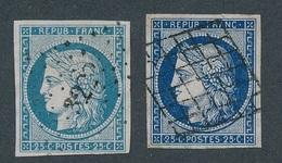 CM-101: FRANCE: Lot Avec N°4/4a Obl  1er Choix - 1849-1850 Ceres