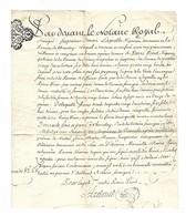 Quitance De 82 Livres Du 12 Avril 1761 Acte Notarié Pour L'achat D'une Vigne à LISIEUX RHONE - Cachets Généralité
