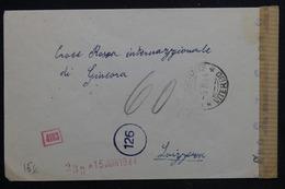 ITALIE - Enveloppe En Franchise De Magenta Pour La Suisse ( Croix Rouge ) En 1944 Avec Contrôle Postal - L 22882 - Marcofilía