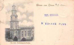¤¤  -   LETTONIE   -  Gruss Aus LIBAU En 1900  -  Die Luth Dreifaltigkeits-Kirche  -  Oblitération     -  ¤¤ - Lettonie