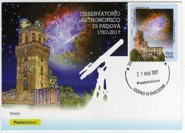 Marcofilia Padova Cartolina Con Nuovo Annullo Permanente Giorno Di Emissione - Filatelia & Monete
