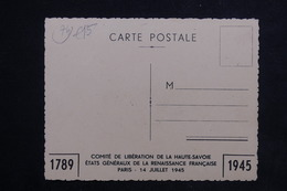 """MILITARIA - Carte Postale - Edition Du Comité De Libération De La Haute Savoie En 1945 - """" Ancêtre Des FFI """"  - L 22883 - Weltkrieg 1939-45"""