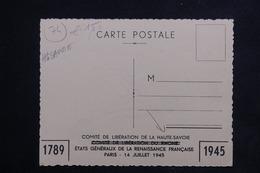 """MILITARIA - Carte Postale - Edition Du Comité De Libération De La Haute Savoie En 1945 - """" Ancêtre Des FFI """"  - L 22884 - Weltkrieg 1939-45"""
