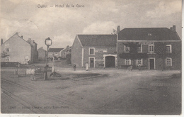 Ouffet - Hôtel De La Gare - Animé - 1907 - Edit. Desaix, Trois-Ponts N° 11907 - Hotel's & Restaurants