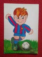 SPAIN POSTAL POST CARD CARTE POSTALE FÚTBOL CLUB BARCELONA CARICATURA CARTOON FOOTBALL MERCÈ TANYÀ SOCCER SPANISH LEAGUE - Soccer