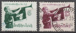 Deutsches Reich    .     Michel       .    584/585       .       O        .      Gebraucht - Allemagne