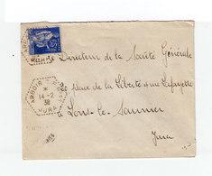 Sur Enveloppe CAD Arbois CP N°11 Jura 1938. CAD Destination Lons Le Saunier. (1085x)1 - Marcophilie (Lettres)