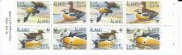 BIRDS ALAND 2000 WWF  Ducks Booklet MNH (**) Mi 168-170 #B82 - W.W.F.