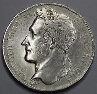 LEOPOLD I ROI DES BELGES  1847   5 FRANCS ARGENT  _ 2 SCANS - 1831-1865: Léopold I