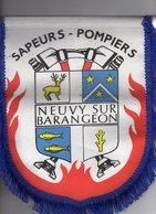 -- FANION DES SAPEURS - POMPIERS De NEUVY Sur BARANGEON (Cher) -- - Pompiers