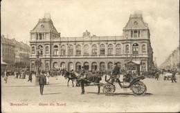 Bruxelles : La Gare Du Nord / Calèche En Gros-plan - Transport (rail) - Stations