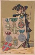 Vers 1895 Médaillon,médaille Militaire Et Civil De Savoie,St Maurice Et Lazare ITALIE ,belle Illustration - Italia