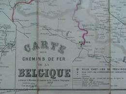 Dubbel Carte Des Chemins De Fer De  Belgique 1902 Et   L' EUROPE - Cartes