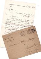 CUREGHEM BRUXELLES ANDERLECHT 1923 Courrier De L' école De Médecine Vétérinaire - Belgique