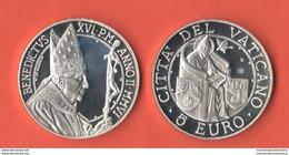 Vaticano 5 Euro 2006 Pace Paix Benedetto XVI PROOF Vatikan State - Vatican