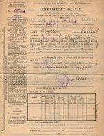 VP14.567 - Mairie De BAGNOLET 1913 - Certificat De Vie - Mme Pierrette BOISSON Veuve DECOIN - Vieux Papiers