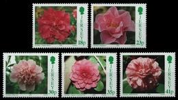 Jersey 1995 - Mi-Nr. 688-692 ** - MNH - Blumen / Flowers - Jersey