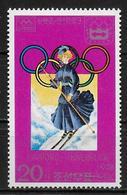 COREE DU NORD   N°1441E  * *   Jo 1976   Ski - Ski