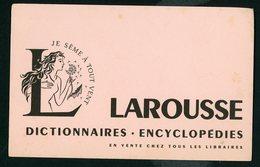 BUVARD:  LAROUSSE , DICTIONNAIRES ENCYCLOPÉDIES - FORMAT  Env. 13,5X21 Cm - Papeterie